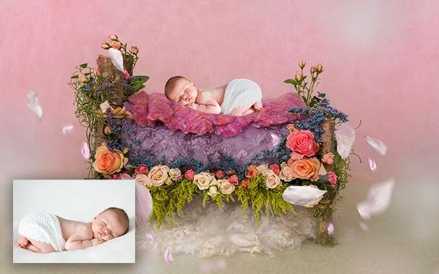 یه ویرایش رویایی از عکس نوزادان دلبند شما انجام بدم