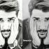 طراحی چهره رو با سه تکنیک سیاه  سفید رنگی و خودکار انجام بدم